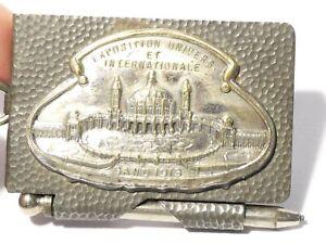 1913 GHENT BERLIN EXHIBITION Souvenir Fob Miniature Notebook