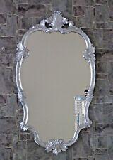 Espejo de Pared Barroco plata oval 99x55 Antiguo Espejo Barroco demano C410