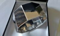 BIG statement 46g sterling silver 925 Italy Paola Valentini cuff bangle bracelet