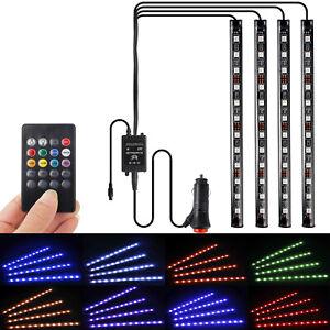 4er Pack, RGB LED Innenraumbeleuchtung Fußraumbeleuchtung Auto Innenbeleuchtung