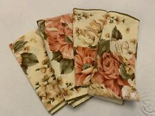 Set of 8 Matching Waverly Cloth Napkins Pink Floral