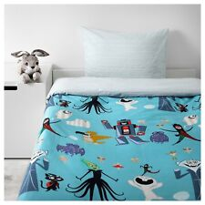 IKEA LATTJO Blue Halloween Robots Dracula Fairies Twin Duvet Cover Sham New NIP