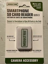 Moultrie Smartphone SD Card Reader Gen3 For Android/Apple, Lightning/Micro USB/C