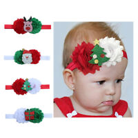 Delicate Christmas Stretch Baby Girl Hair Accessories Headband Baby Hair Clips