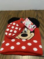 Disney Parks Winter Hat Minnie Mouse And Gloves Toddlers