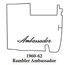 1960 1962 AMC Ambassador Trunk Rubber Floor Mat Cover with A-003 Ambassador
