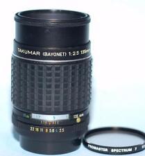 Pentax 135mm f2.5 Takumar manual focus prime lens in PK mount - Nice Ex++!