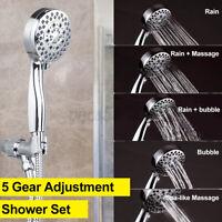5 Gear Adjustment Shower Head Home Bathroom Rain Shower With Shower Hose Kit