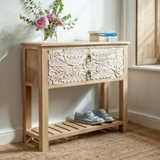 Indian French Style Wooden Console Table with 2 Drawers