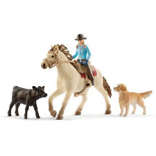 Schleich - Western Riding Set NEW Toy Figure Horse Cow Dog model # 42419