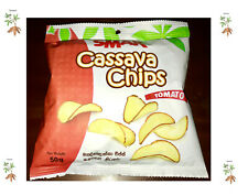Cassava salted tasty Chips - 50 g X 2 packs - Low Fat ,healthy food ~ Free Ship