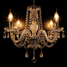 Crystal Chandelier Modern Ceiling Light E12 4 Lighting Fixture Lamp Pendant New
