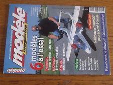 $$v Revue modele magazine RCM N°592 Plan encarte Schweizer 1-26  Trainer 40 MkII