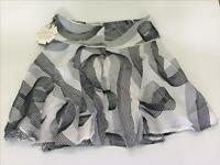 CKS -Jupe 14 ans-Blanc gris noir-Taille ajustable par élastique boutonné-Neuf
