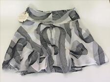CKS -falda 14 años-blanco gris negro-talla ajustable por elástico con botones