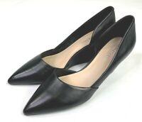 Kenneth Cole Women's Black Emier Wedge Heel Leather Pumps US 9 NWOB