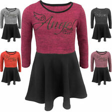 Winter Long Sleeve Casual Dresses (2-16 Years) for Girls