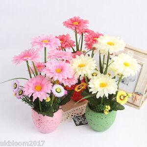 ARTIFICIAL/SILK FLOWER SUNFLOWER ARRANGEMENT POT  Floral Posy Home Garden Decor