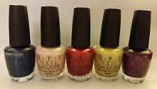 5 NEW FULL SIZE OPI NAIL LACQUER POLISH POLISHES GERMANY COLLECTION LOT DD