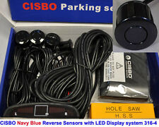 CISBO Navy blue Colour Reverse Parking 4 Sensor Audio Buzzer Alarm LED Display