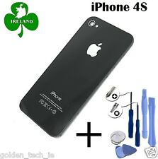 For iPhone 4S Back/Battery Cover Glass Plate Replacement Black New With Tools