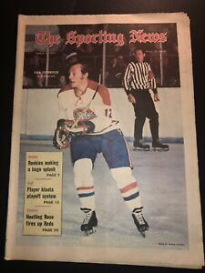 1971 Sporting News MONTREAL CANADIANS Yvan COURNOYER No Label DEADLY TRIGGERMAN
