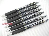 6 x Uni-Ball Signo UMN-207 Micro 0.5mm Extra Fine Gel ink Rollerball Pen, Black