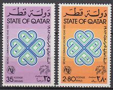 Qatar 1983 ** Mi.846/47 Weltkommunikatiosjahr World Communications Year