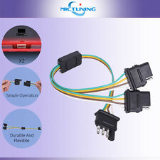 MICTUNING 2-Way  4 Pin Y-Trailer Splitte Adapter Harness For LED Tailgate Light