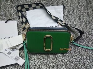 NWT Genuine Marc Jacobs Snapshot Small Camera Bag Crossbody green multi SALES.