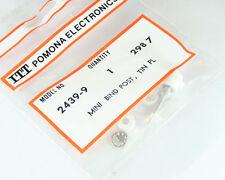 Lot of 5 POMONA 2439-9 White Miniature Binding Post Tin Plating