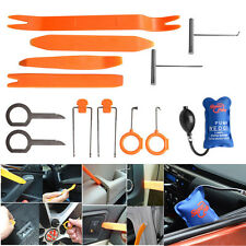 12 in 1 Car Dash Door Trim Audio Stereo Panel Removal Pry Open Tools&Pump Wedge