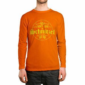 I Don't Give A Schnitzel Funny German Oktoberfest  Long Sleeve Men's Shirt