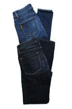 Frame Denim Paige Womens Verdugo Skinny Leg Jeans Blue Cotton Size 25 Lot 2