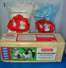 WOODSHAVINGS AND 2 X WOOLY PET BEDDING HAMSTER GERBIL MOUSE RABBIT SAWDUST