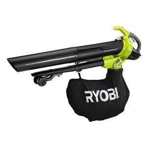 Ryobi 2400W Electric Blower Vac clearing on any deck, porch, patio or sidewalk