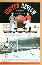 Manchester United v Wolverhampton Wanderers Wolves 1957/58 POSTPONED PROGRAMME