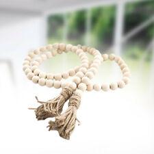 Tassel Pendant Wooden Beads String Garland Wedding Birthday Ornament