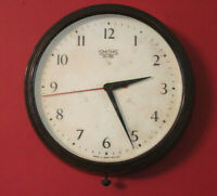 Smiths Sectric 20th Century Vintage Industrial Bakelite Factory/Station Clock