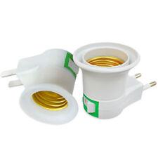 LED Light Bulb Lamp Socket Base Mini Holder EU Plug To E27 Holder Plug Adapter