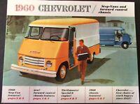 1960 Chevrolet Truck Step Van Forward Control Chassis Sales Brochure Original