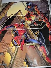 LOCANDINA POSTER SPIDERMAN L' UOMO RAGNO vs RED SPIDERMAN 1996 Marvel Italia