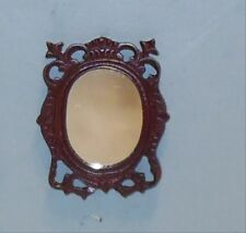 MAHOGANY WALL MIRROR #210 DOLL HOUSE FURNITURE MINIATURES ON SALE