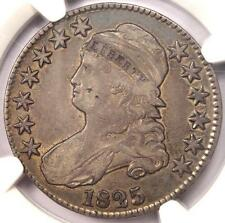 1825 Capped Bust Half Dollar 50C - NGC VF35 PQ - Rare Certified Coin