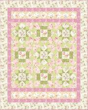 Robert Kaufman Garden Stars Quilt Fabric Kit - Pinks/Greens/creams/blue