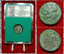 Ancient GREEK Coin THRACE MARONEIA Dionysos Holding Grapes On Obverse