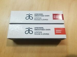 ARBONNE Smoothed Over Gladiola And Zinnia Lipstick New In Box 2 Pack Ships Free