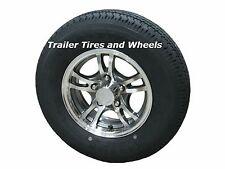 "JGK 185/80R13 LRD Radial Trailer Tire on 13"" 5 Lug Aluminum Trailer Wheel acc"