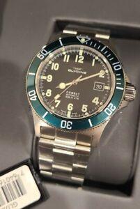 Glycine Combat Sub GL0253 42 mm Automatic Men's Watch - Silver/Black