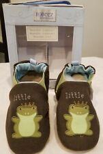 Robeez Boys Soft Soles Leather Little Prince Blue Reversible 18-24 months